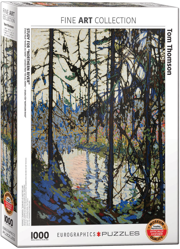 Eurographics - Study for Northern River by Tom Thomson, 1000 PC Puzzle