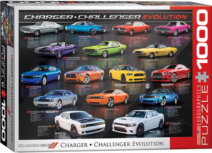 Eurographics - Dodge Charger / Challenger Evolution , 1000 PC Puzzle