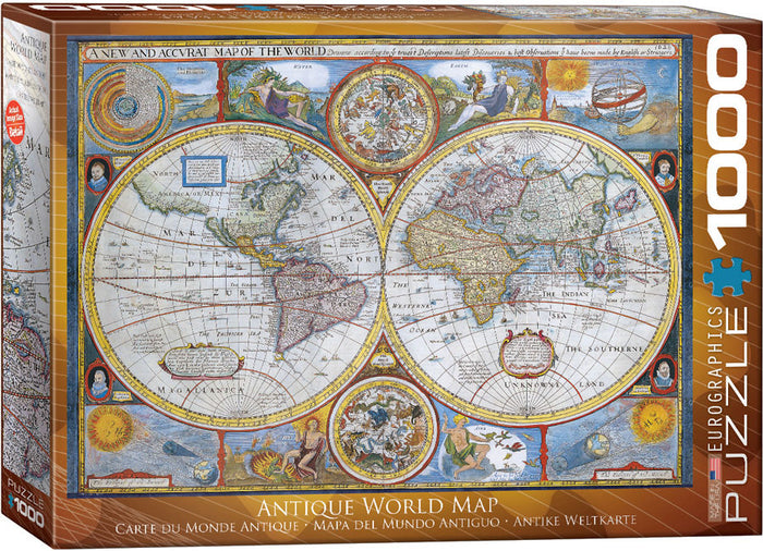Eurographics - Antique World Map, 1000 PC Puzzle