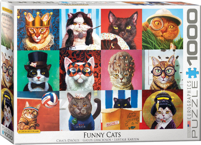 Eurographics - Funny Cats by Lucia Heffernan, 1000 PC Puzzle