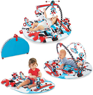 Yookidoo -  Baby Gym and Play Mat - 3 Stage Accessory with Motorized Robot Track