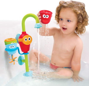 Yookidoo - Flow N Fill Spout - 3 Stackable Cups and Waterfall Spout - Baby Bath Toy