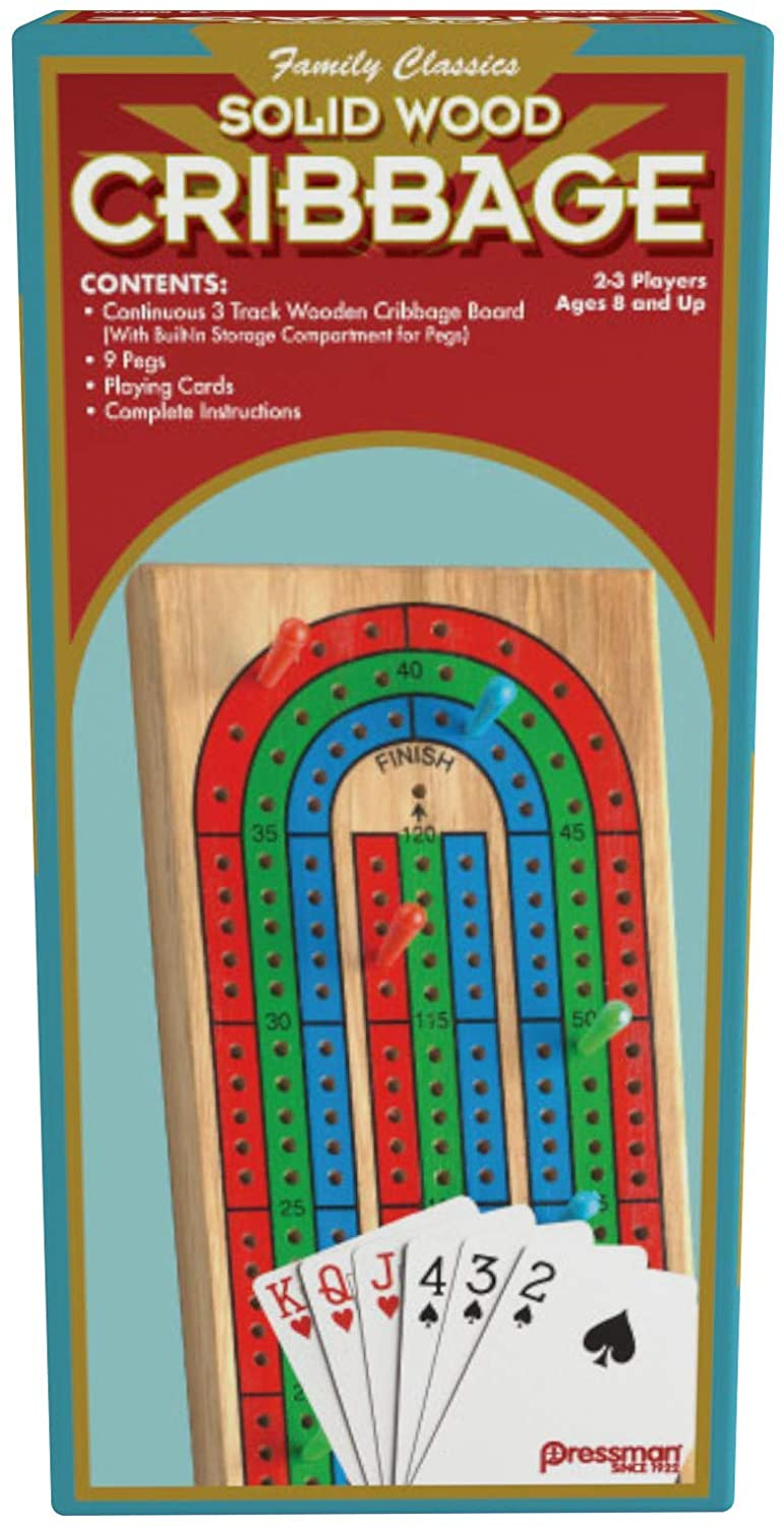 Pressman - Continuum Games Wood Cribbage with Cards