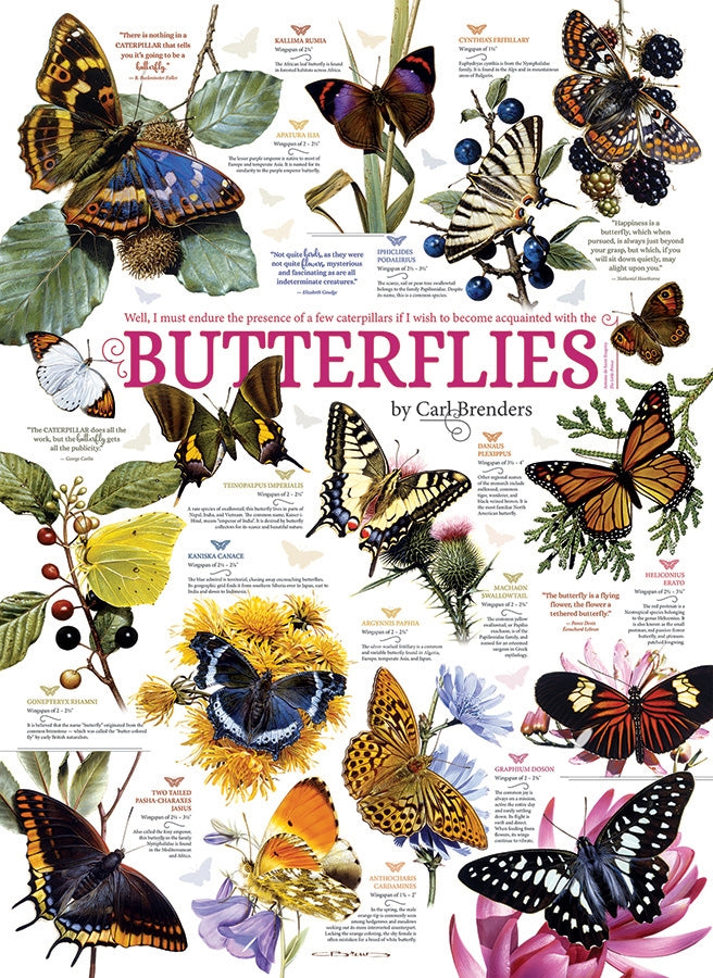 Cobble Hill - Butterfly Collection, 1000-Piece Puzzle