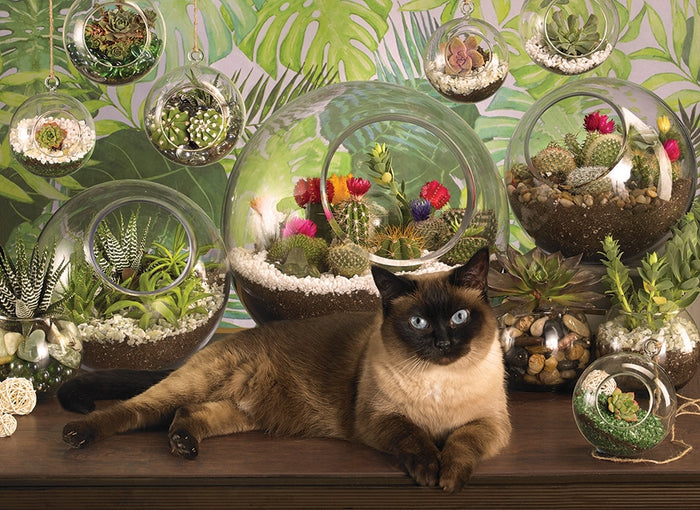 Cobble Hill - Terrarium Cat, 1000-Piece Puzzle