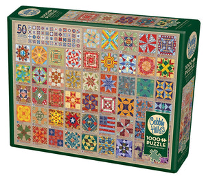 Cobble Hill - 50 States Quilt Blocks, 1000 Piece Puzzle