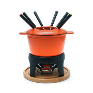 Swissmar - Fondue-Sierra 11 Piece Cast Iron Fondue Set (Cherry)