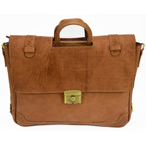PEZON - Genuine Leather Handmade Business Bag - Noble Camel