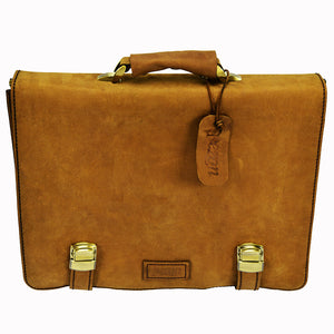 PEZON - Genuine Leather Handmade Business Bag - Nasa Walnut
