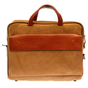 Pezon - Genuine Leather Handmade Business Bag - Viven Suede