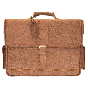 Pezon - Genuine Leather Handmade Business Bag - Terra Ptterned