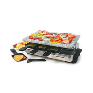 Swissmar - Raclette-8 Person Stelvio Raclette Party Grill With Granite Stone