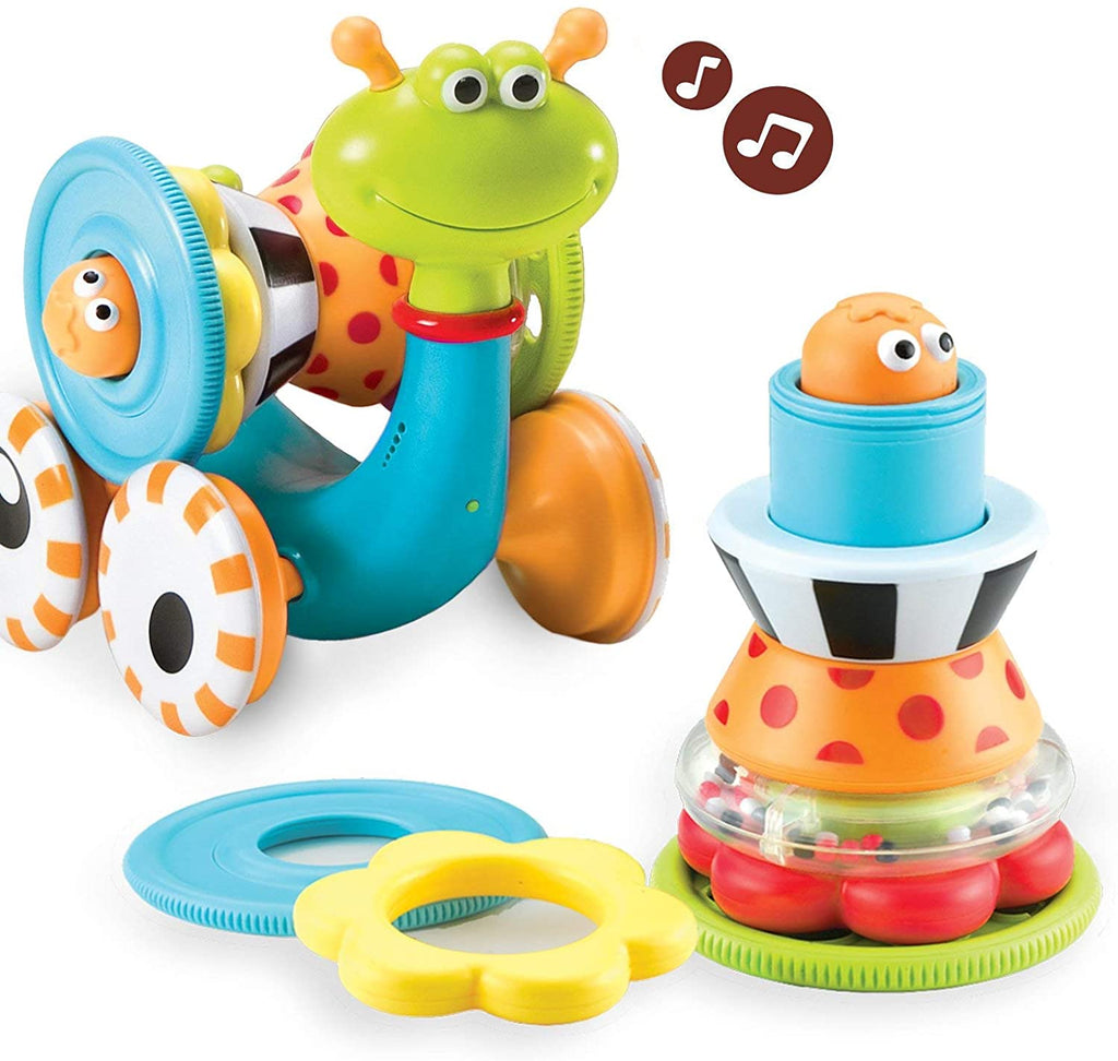 Yookidoo - Musical Crawl N' Go Snail Toy with Stacker