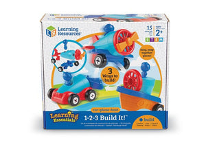Learning Resources - 1-2-3 Build It Car, Plane , Boat