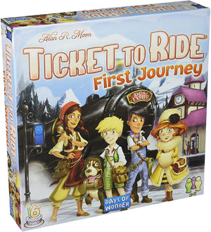 Days of Wonder - Ticket To Ride: First Journey Board Game
