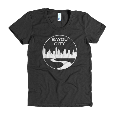 Bayou City (Black) - Womens Crew