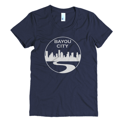 Bayou City (Blue) - Womens Crew