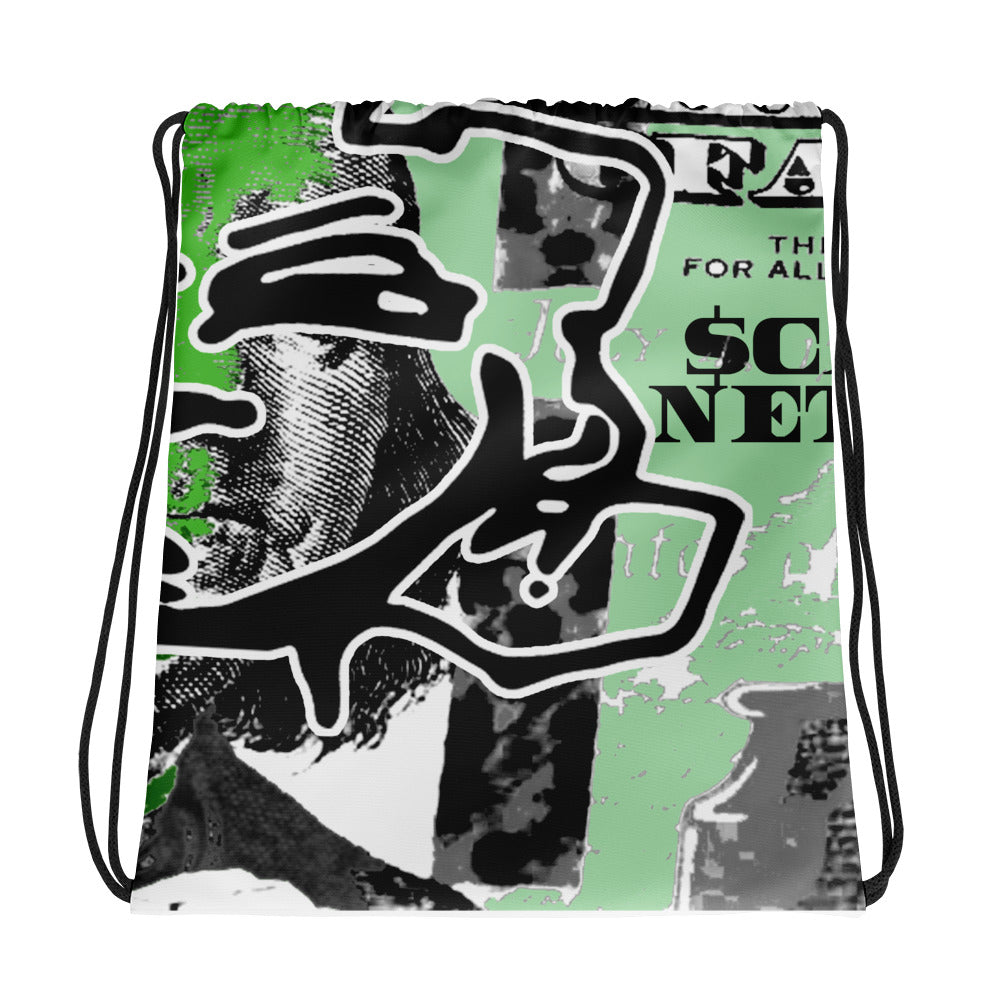 Get Money Drawstring bag