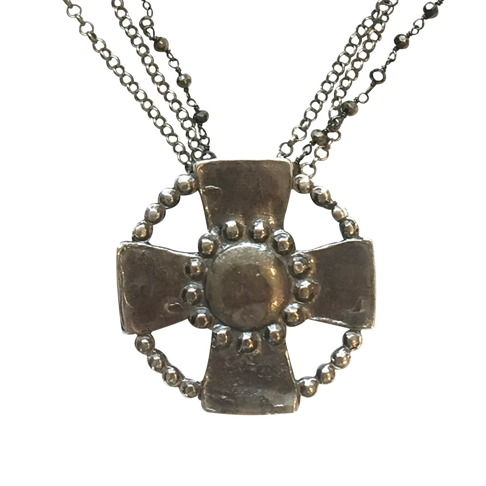 Encircled Cross - [redd accessories], [handcrafted jewelery], [artisan jewelry], [sterling silver], [hipster], [luxary], [high end], [one of a kind],