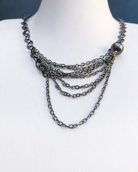 Chained Enrapture - [redd accessories], [handcrafted jewelery], [artisan jewelry], [sterling silver], [hipster], [luxary], [high end], [one of a kind],