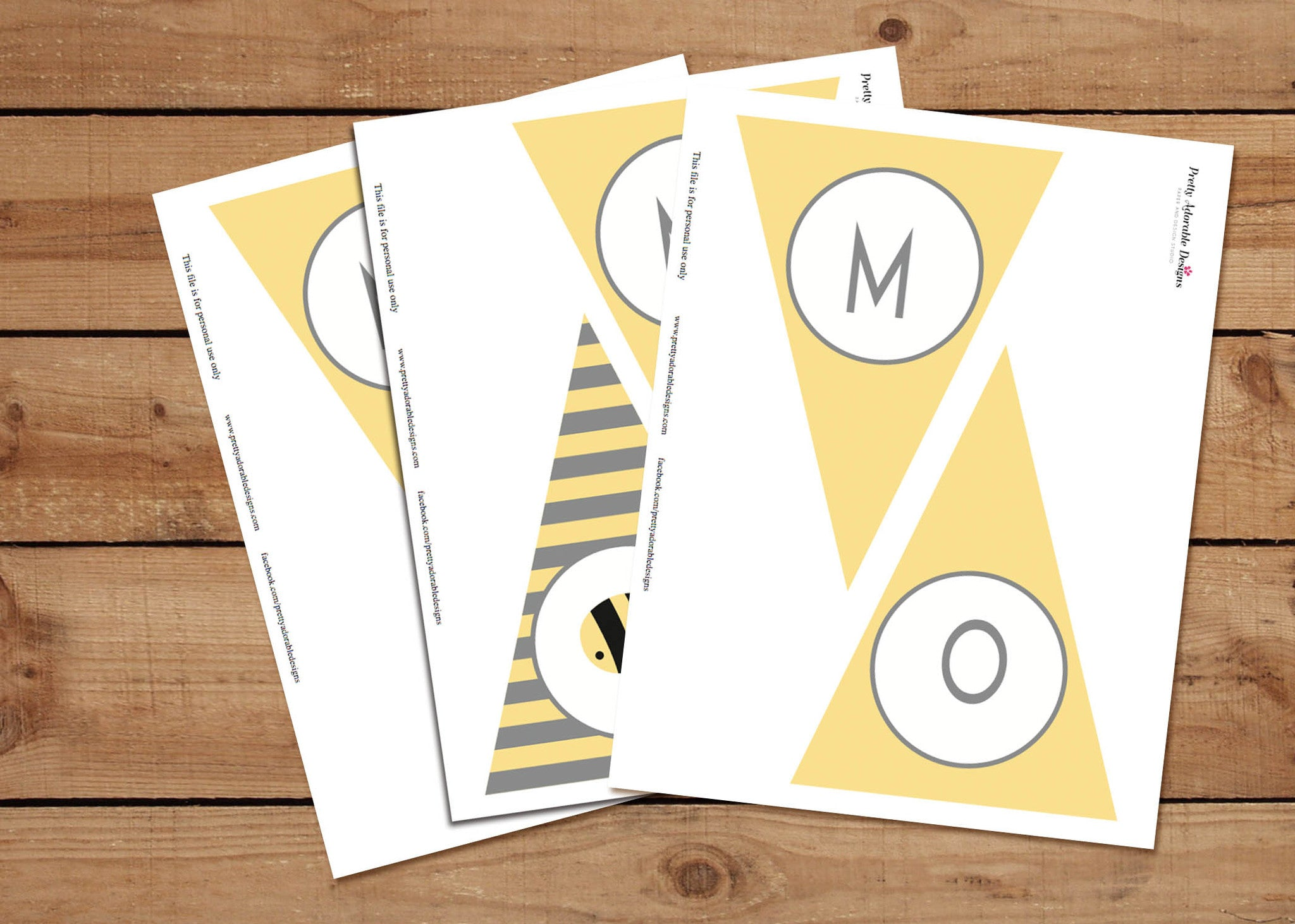 Printable Mom To Bee Baby Shower Party Banners – Pretty Adorable Designs