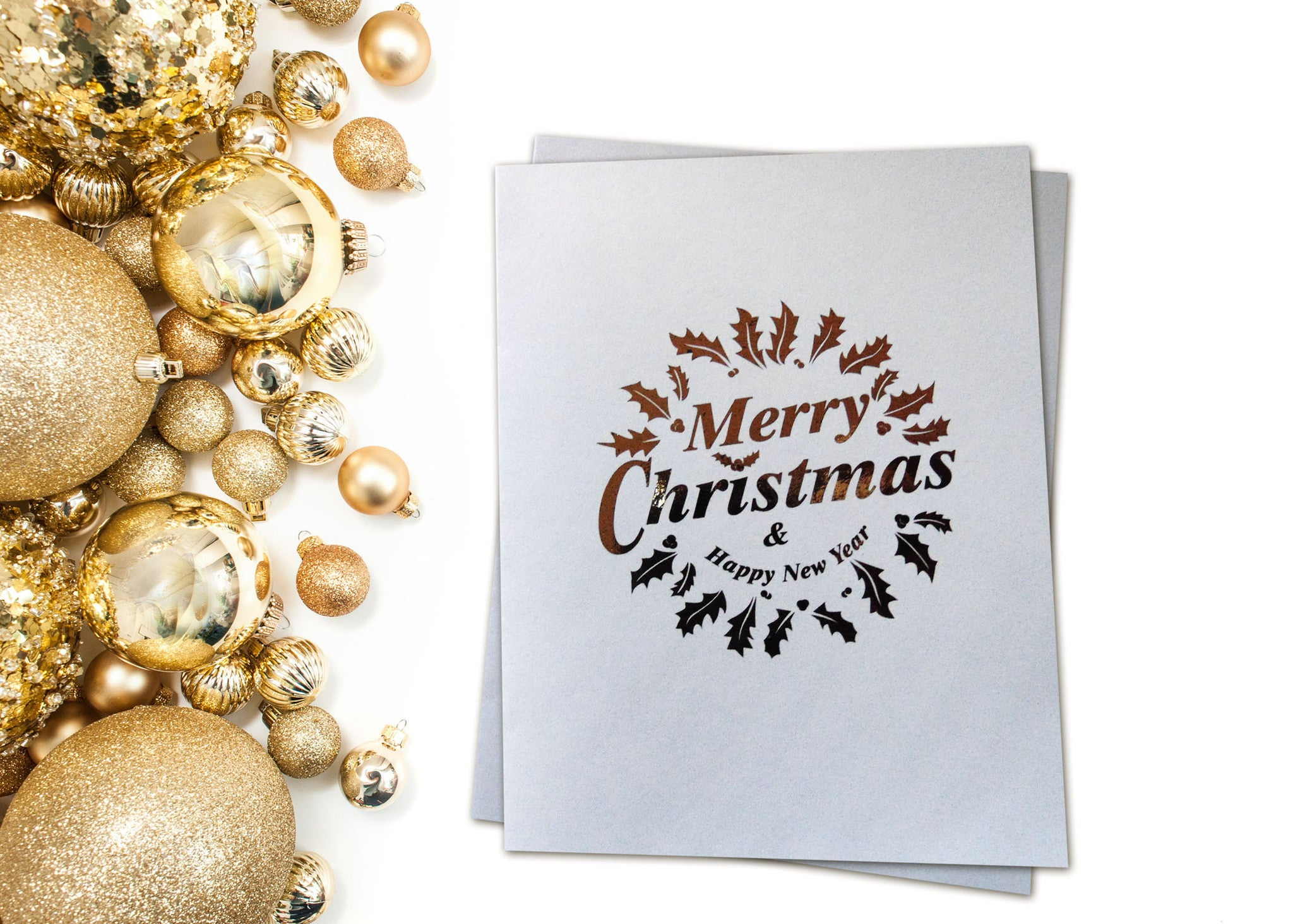 Holiday Cards Merry Christmas Wreath Pretty Adorable Designs