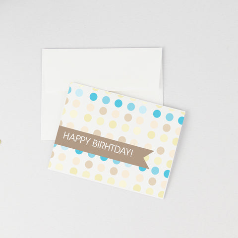 Circle Pattern Birthday Card: 1st Birthday