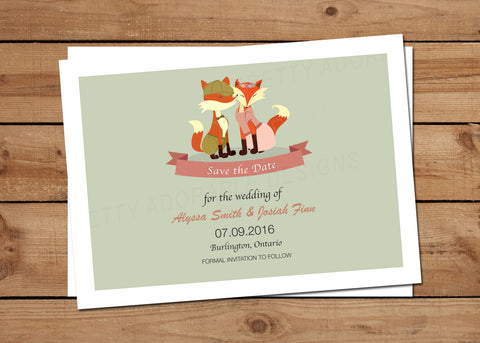 Hipster-Fox-Save-The-Date Invitations
