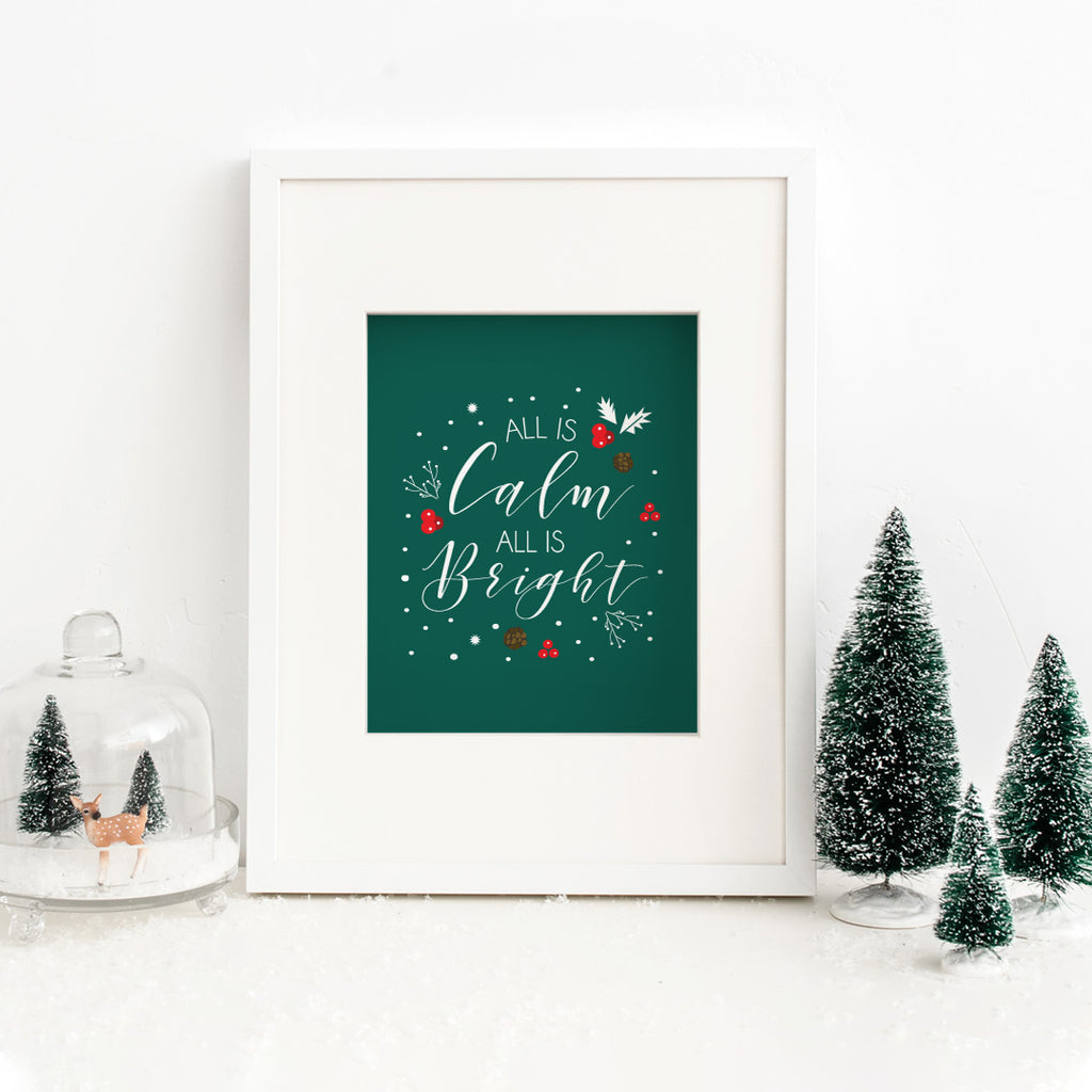 All Is Calm All Is Bright Holiday Print