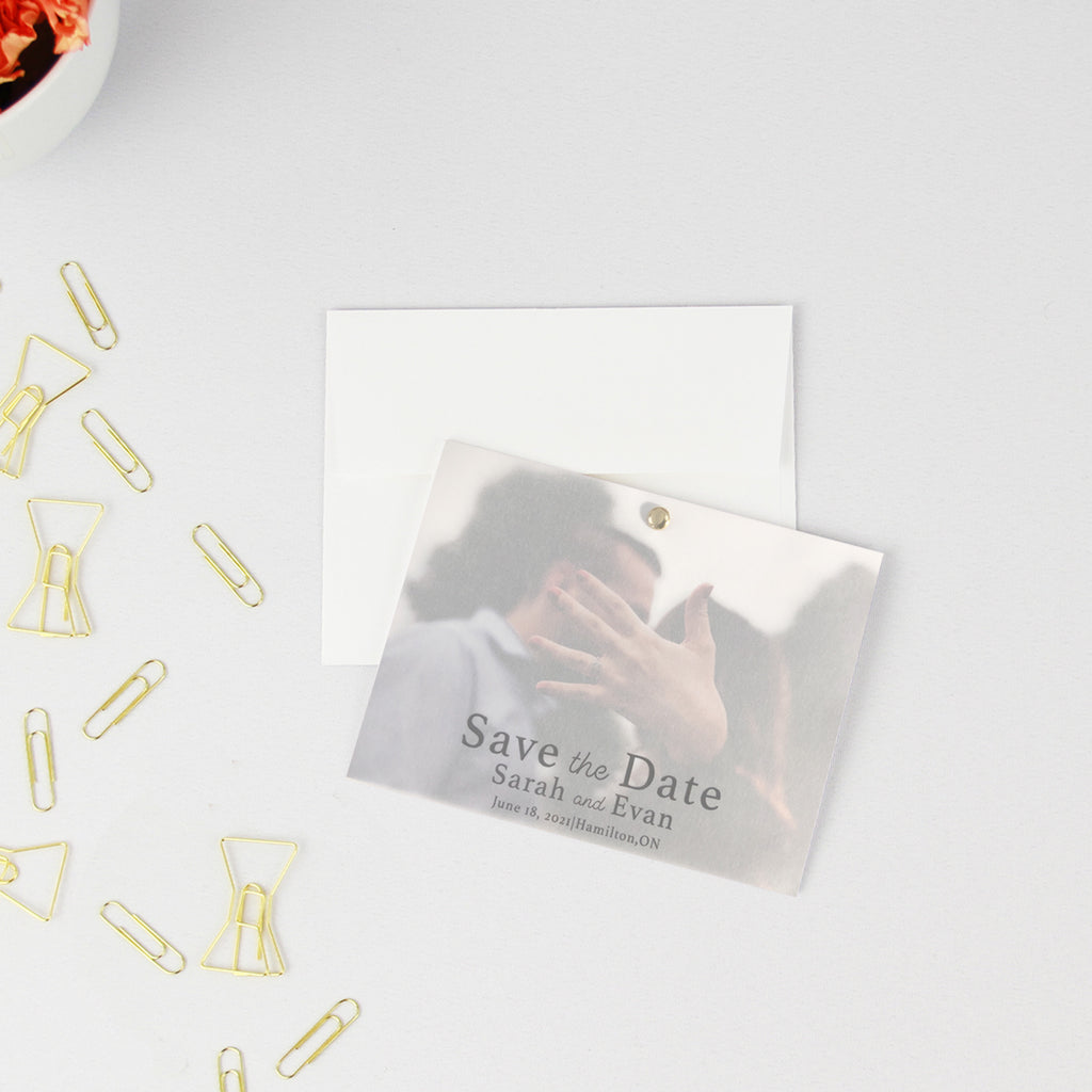 Vellum Save The Date Modern