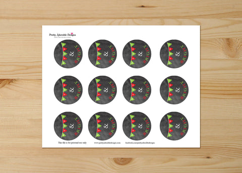 Merry And Bright Festive Cupcake Toppers Printable