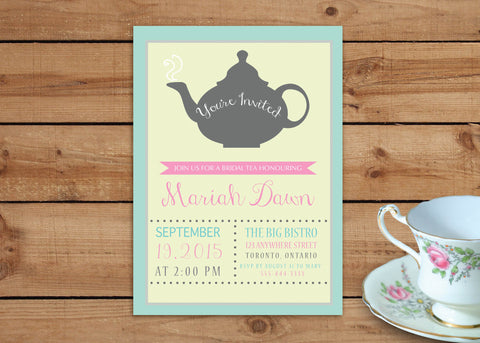 It's Tea Time: Bridal Tea Invitations