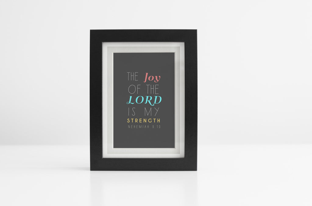 Scripture Art: The Joy of the Lord