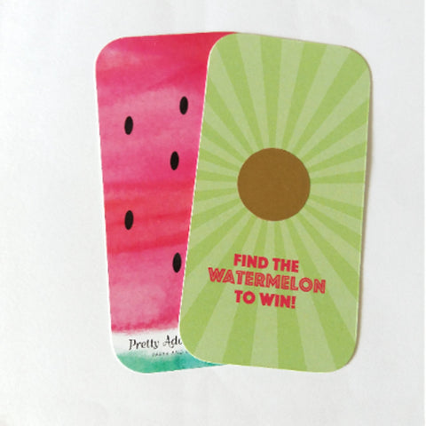 12 Watermelon Scratch Off Cards, Party Games