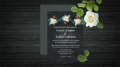 Chalkboard Wedding Invitations DIY