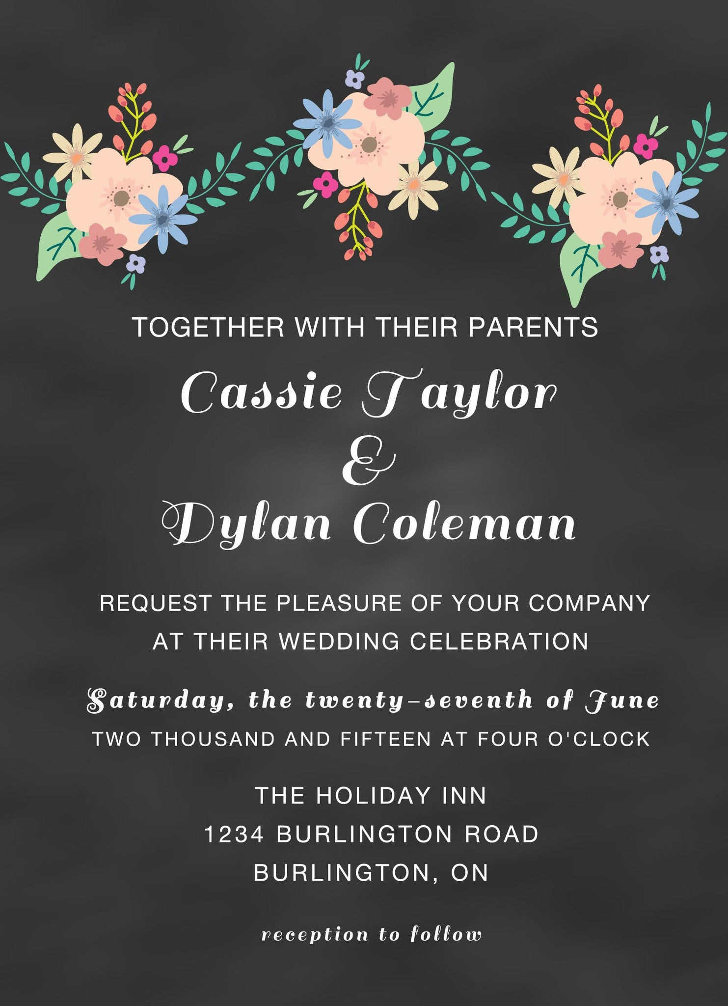 Chalkboard Wedding Invitations Diy Pretty Adorable Designs