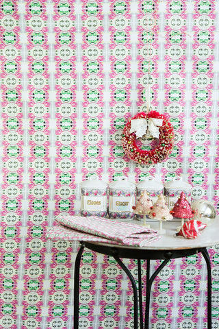Philomela Holiday Penmanship Collection Textiles and Wallpaper