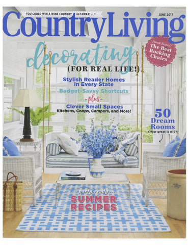 Country Living June 2017 Philomela featured in Fresh Fabrics