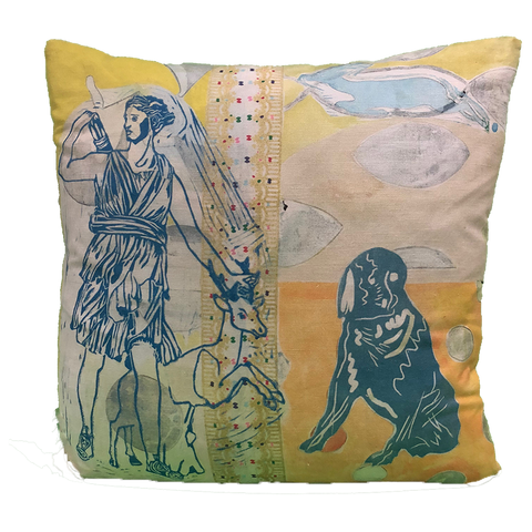 Pillow: Diana with Dog