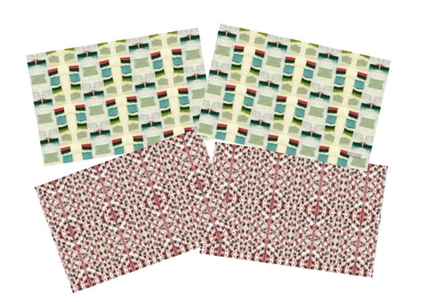 Jacob's Ladder Placemats, <br> Red & Green