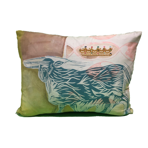 Pillow: Ox with Crown