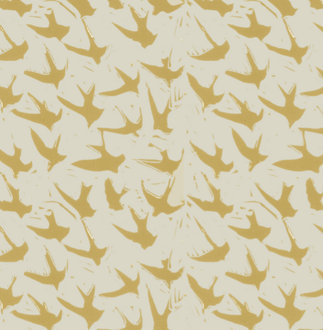 Pattern: Bird by Bird <br> Color: Mustard