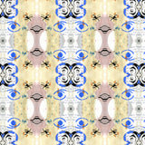 Pattern:  Chirography  <br> Color:  Yellow