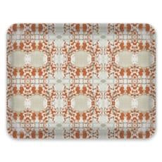 Decorative Tray: Mirror, Rust