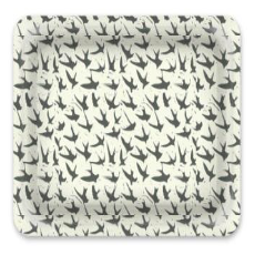 Decorative Tray: Bird By Bird, Clay