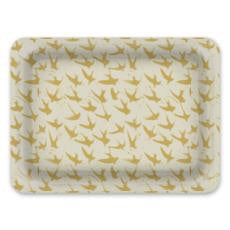 Decorative Tray: Bird By Bird, Mustard