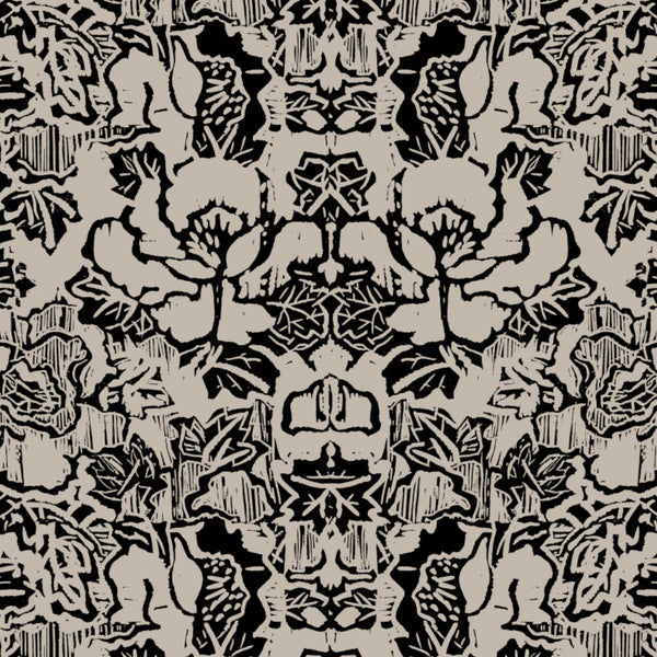 Pattern: Indian Floral <br>Color: Taupe