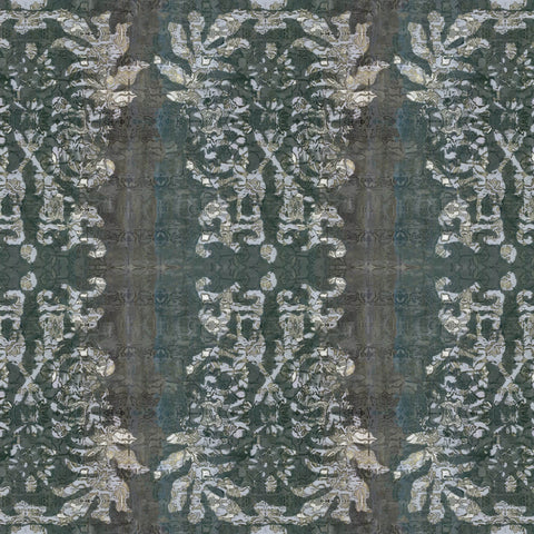 Pattern: Indian Floral Waxed <br>Color: Charcoal