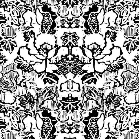Pattern: Indian Floral <br> Color: Black & White