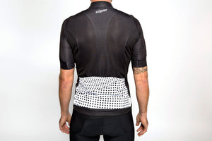 Men's dot-dot-dot Black + White jersey